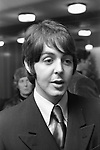 The Beatles  1968 Paul McCartney at a press conference at the Royal Garden Hotel, London to publicise the Leicester Arts Festival
