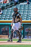 Charlie Cutler (37) of the Salt Lake Bees during the game against the Albuquerque Isotopes in Pacific Coast League action at Smith's Ballpark on June 28, 2015 in Salt Lake City, Utah. The Isotopes defeated the Bees 8-3. (Stephen Smith/Four Seam Images)