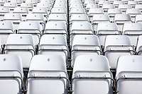 General view of empty seats ahead of play on Day Four of Nottinghamshire CCC vs Essex CCC, LV Insurance County Championship Group 1 Cricket at Trent Bridge on 9th May 2021