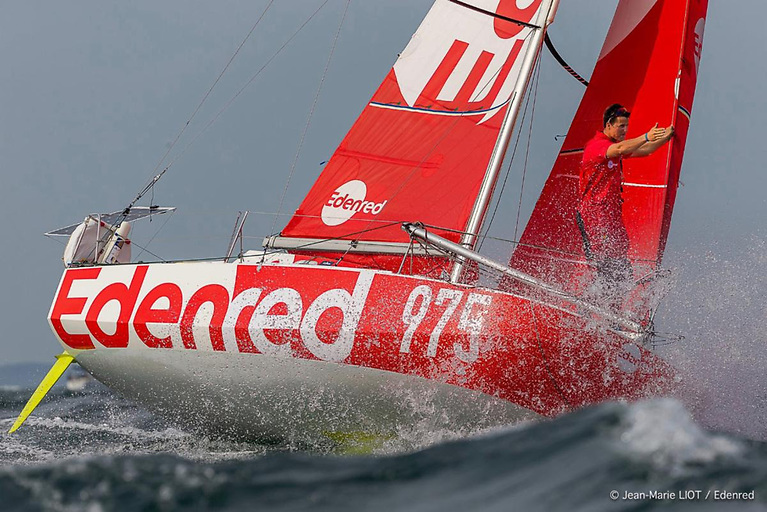 Team Edenred is one of 37 Class40s in the 2021 Fastnet Race © Jean-Marie Liot