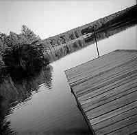 Pier by pond<br />