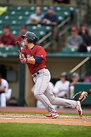 Lehigh Valley IronPigs third baseman Cord Phelps (35) at bat during a game against the Rochester Red Wings on May 15, 2015 at Frontier Field in Rochester, New York.  Rochester defeated Lehigh Valley 5-4.  (Mike Janes/Four Seam Images)