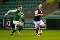15th November 2020; Easter Road, Edinburgh, Scotland; Scottish League Cup Football, Hibernian versus Dundee FC; Charlie Adam of Dundee goes past Kevin Nisbet of Hibernian