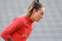 Tessa Wullaert (9) of Belgium pictured during a Womens International Friendly game between Belgium , called the Red Flames and Norway at Koning Boudewijnstadion in Brussels , Belgium. Photo Sportpix.be / SPP