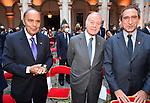 BRUNO VESPA , GIANNI LETTA E CARLO FUORTES<br /> RICEVIMENTO 14 LUGLIO 2021 AMBASCIATA DI FRANCIA<br /> PALAZZO FARNESE ROMA