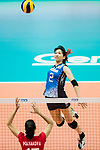 Wing spiker Sarina Koga of Japan spikes the ball during the FIVB Volleyball World Grand Prix - Hong Kong 2017 match between Japan and Russia on 23 July 2017, in Hong Kong, China. Photo by Yu Chun Christopher Wong / Power Sport Images