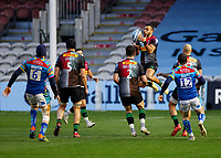 13th February 2021; Twickenham Stoop, London, England; English Premiership Rugby, Harlequins versus Leicester Tigers; Marchant of Harlequins taking a high ball