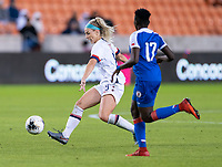 HOUSTON, TX - JANUARY 28: Julie Ertz #8 of the United States passes the ball during a game between Haiti and USWNT at BBVA Stadium on January 28, 2020 in Houston, Texas.