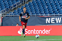 FOXBOROUGH, MA - JULY 9: Colin Verfurth #35 of New England Revolution II looks to pass during a game between Toronto FC II and New England Revolution II at Gillette Stadium on July 9, 2021 in Foxborough, Massachusetts.