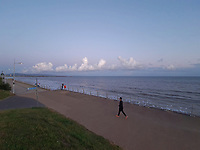 Clouds over Swansea Bay. Wednesday 28 April 2021