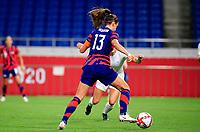 SAITAMA, JAPAN - JULY 24: Alex Morgan #13  of the United States moves towards the box during a game between New Zealand and USWNT at Saitama Stadium on July 24, 2021 in Saitama, Japan.