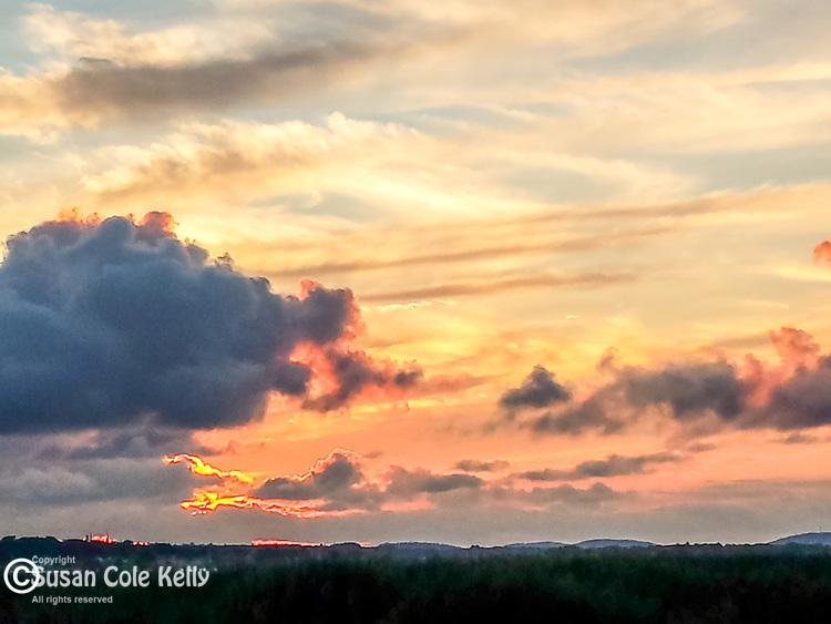 Sunset on Plumbush Creek n Newbury, Massachusetts, USA