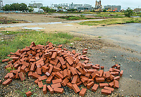 Washington D.C. - October 1, 2016: Nationals Park from around the former T and Half street junction. Buzzards Point area in Southwest Washington D.C. cleared for construction of the new soccer stadium for D.C. United scheduled to open in 2018.