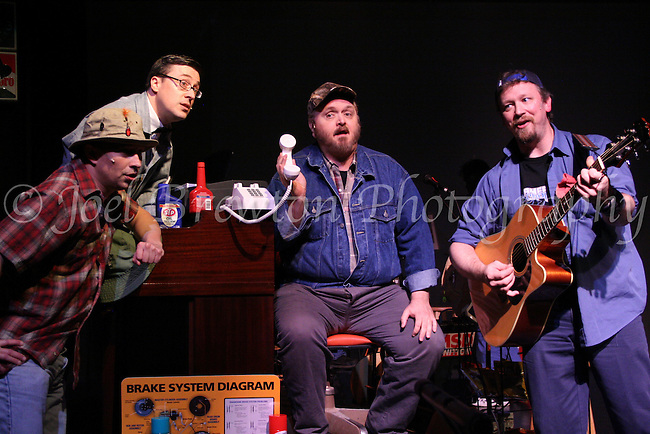 """Members of the Actors Civic Theater perform the musical """"Pump Boys and Dinettes"""" at the Father Ryan Arts Center in McKees Rocks, PA."""