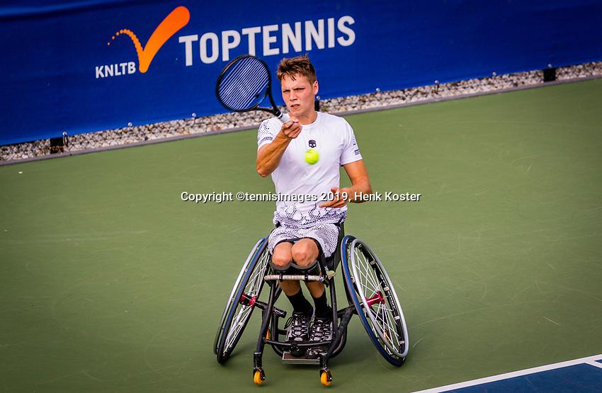 Amstelveen, Netherlands, 19 Augustus, 2020, National Tennis Center, NTC, NKR, National  Wheelchair Tennis Championships, Men's single: Ruben Spaargaren (NED)<br /> Photo: Henk Koster/tennisimages.com