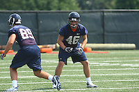 Virginia defensive end Ryan Shaw during open spring practice for the Virginia Cavaliers football team August 7, 2009 at the University of Virginia in Charlottesville, VA. Photo/Andrew Shurtleff