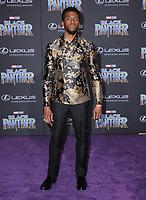 "29 January 2018 - Hollywood, California - Chadwick Boseman. Marvel Studios' ""Black Panther"" World Premiere held at Dolby Theater. Photo Credit: Birdie Thompson/AdMedia"