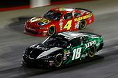 #18: Kyle Busch, Joe Gibbs Racing, Toyota Supra Juniper #4: Landon Cassill, JD Motorsports, Chevrolet Camaro Flex Seal