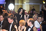 © Joel Goodman - 07973 332324 . 05/03/2015 .  Midland Hotel , Manchester , UK . Winner Sally Harrison QC of St John's Buildings goes to collect her award . Barrister of the Year . The Manchester Legal Awards 2015 . Photo credit : Joel Goodman