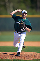 Dartmouth Big Green relief pitcher Adam Charnin-Aker (22) delivers a pitch during a game against the Villanova Wildcats on February 27, 2016 at South Charlotte Regional Park in Punta Gorda, Florida.  Villanova defeated Dartmouth 14-1.  (Mike Janes/Four Seam Images)