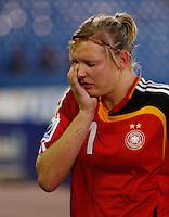 Dejected Germany striker Alexandra Popp..FIFA U17 Women's World Cup, Semi Final, Germany v USA, QEII Stadium, Christchurch, New Zealand, Thursday 13 November 2008. Photo: Renee McKay/PHOTOSPORT