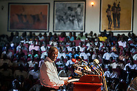 Former president of South Africa Thabo Mbeki, speaking at a cultural centre in Juba, South Sudan. On 9th January 2011 Southern Sudan's people voted in a referendum on whether to become independent from the North..