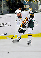3 December 2011: University of Vermont Catamount forward Colin Markison, a Freshman from Princeton, NJ, in action against the University of Maine Black Bears at Gutterson Fieldhouse in Burlington, Vermont. The Catamounts fell to the Black Bears 5-2 in the second game of their 2-game Hockey East weekend series. Mandatory Credit: Ed Wolfstein Photo