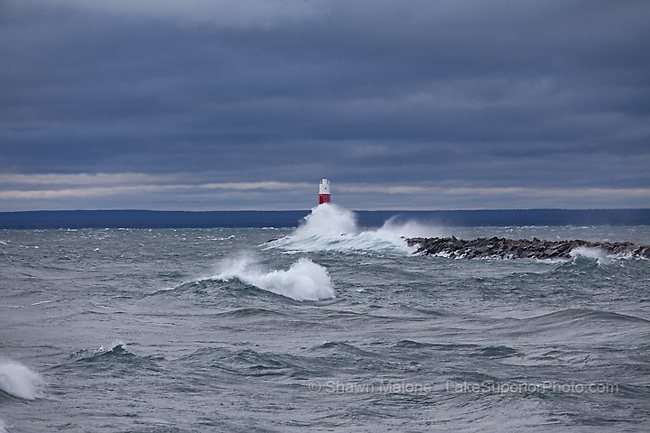 Marquette Upper Harbor Light lighthouses in the Upper Peninsula of Michigan