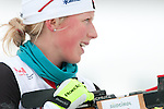 MARTELL-VAL MARTELLO, ITALY - FEBRUARY 02: LODGE Emma (CAN) during the Women 7.5 km Sprint at the IBU Cup Biathlon 6 on February 02, 2013 in Martell-Val Martello, Italy. (Photo by Dirk Markgraf)