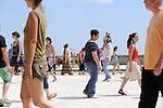 Planetary Dance<br /> <br /> Conception : Anna Halprin<br /> Transmission : Anne Lopez<br /> Percussionniste : Franck Bataillé<br /> Cadre : Festival Uzes danse 2013<br /> Lieu : Promenade Racine<br /> Ville : Uzes<br /> 15/06/2013<br /> © Laurent Paillier / photosdedanse.com