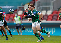 27th March 2021; Brentford Community Stadium, London, England; Gallagher Premiership Rugby, London Irish versus Bath; Paddy Jackson of London Irish passes the ball