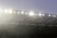 Photo: Richard Lane/Richard Lane Photography. Wasps v Sale Sharks. Aviva Premiership. 04/01/2015. Fog at the Ricoh Arena.
