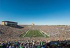 Oct. 11, 2014; Notre Dame Stadium at the start of the North Carolina Game, 2014. (Photo by Matt Cashore/University of Notre Dame)