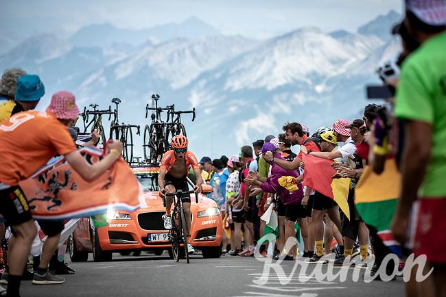 Serge Pauwels (BEL/CCC) up the Col du Galibier (HC/2622m/23km@5.1%)<br /> <br /> Stage 18: Embrun to Valloire (208km)<br /> 106th Tour de France 2019 (2.UWT)<br /> <br /> ©kramon