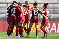 Andressa Alves Da Silva of AS Roma celebrates with team mates after scoring the goal of 1-0 during the Women Italy cup round of 8 second leg match between AS Roma and Florentia S.G. at stadio delle tre fontane, Roma, February 14, 2021. Photo Andrea Staccioli / Insidefoto