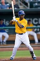 James Tomlin (6) of the Jacksonville Suns at bat at the Baseball Grounds in Jacksonville, FL, Wednesday June 11, 2008.