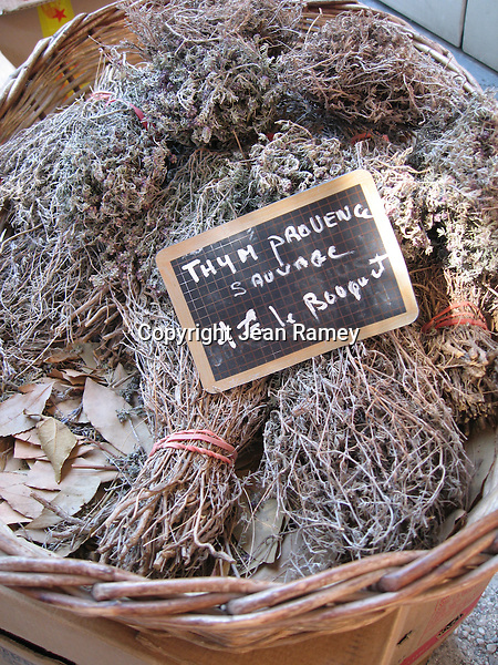 Thyme bunches at the market