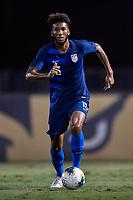 Miami, FL - Tuesday, October 15, 2019:  Auston Trusty #15 during a friendly match between the USMNT U-23 and El Salvador at FIU Soccer Stadium.