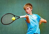 Hilversum, Netherlands, August 8, 2018, National Junior Championships, NJK, Manvydas Balciunas (NED)<br /> Photo: Tennisimages/Henk Koster