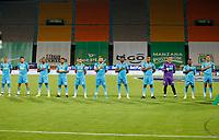 MEDELLÍN- COLOMBIA,  24-03-2021 .Jugadores de Jaguares de Córdoba posan para una foto previo al partido por la fecha 14 entre Atlético Nacional  y Jaguares de Córdoba como parte de la Liga BetPlay DIMAYOR 2021 jugado en el estadio Atanasio Girardot de la ciudad de Medellín. / Players of  Jaguares de Cordoba pose to a photo prior Match for the date 14 between  Atletico Nacional and Jaguares de Cordoba as part of the BetPlay DIMAYOR League I 2021 played at Atanasio Girardot stadium in Medellin city. Photo: VizzorImage / Donaldo Zuluaga / Contribuidor