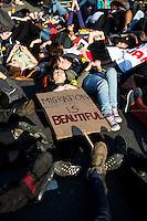 "23.04.2015 - ""Die-In For Migrants"" in London - #MigrantLivesMatter"