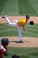 Erie SeaWolves pitcher Joe Navilhon (21) during an Eastern League game against the Altoona Curve and on June 4, 2019 at UPMC Park in Erie, Pennsylvania.  Altoona defeated Erie 3-0.  (Mike Janes/Four Seam Images)