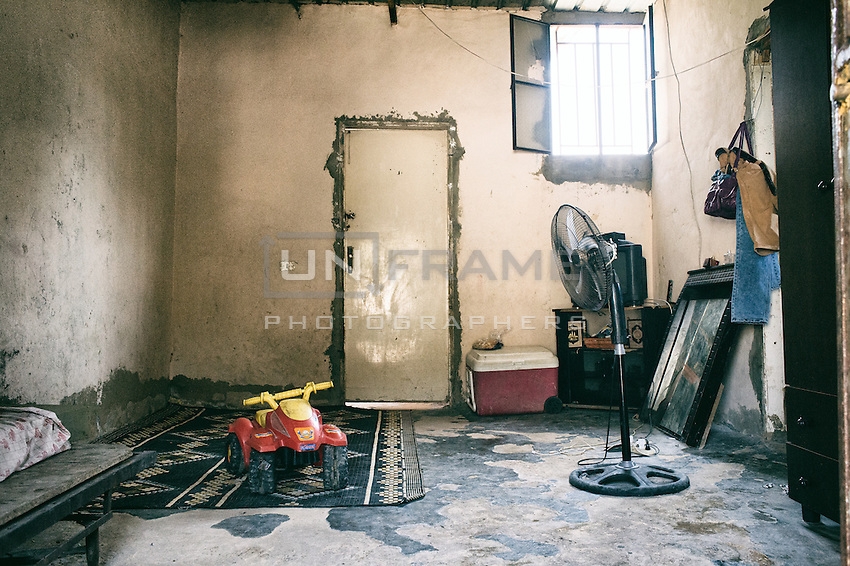 Inside of the house of a Palestinian family in Shatila camp in beirut. Beirut. Lebanon, August 2015