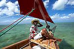 Voilier en route pour l'île aux Cocos. boat sailing to Cocos island..
