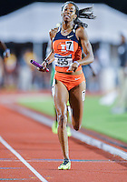 May 25, 2013: Ahlivia Spencer #455 of Illinois takes first place in heat one of  4x400 relay quarterfinal during NCAA Outdoor Track & Field Championships West Preliminary at Mike A. Myers Stadium in Austin, TX.