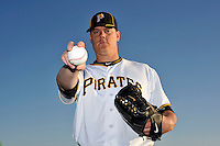 Feb 28, 2010; Bradenton, FL, USA; Pittsburgh Pirates  pitcher Chris Jakubauskas (39) during  photoday at Pirate City. Mandatory Credit: Tomasso De Rosa/ Four Seam Images