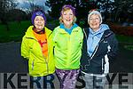 Josie O'Shea (Ballymac), Madeline Brosnan (Kilmoyley) and Gemma O'Shea (Tralee) taking part in the last Born to Run 5k run in the Tralee Town park on Saturday.