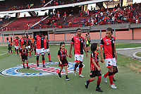 CUCUTA - COLOMBIA, 24-08-2019: Jugadores de Cúcuta ingresan al campo de juego previo al partido entre Cúcuta Deportivo y La Equidad por la fecha 8 de la Liga Águila II 2019 jugado en el estadio General Santander de la ciudad de Cúcuta. / Players of Cucuta go inside the field prior the match between Cucuta Deportivo and La Equidad for the date 8 of the Liga Aguila II 2019 played at the General Santander stadium in Cucuta city. Photo: VizzorImage / Manuel Hernandez / Cont