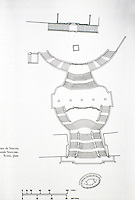 Sketch of Spanish Staircase, Rome plan.