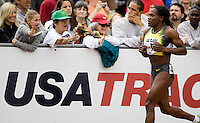 EUGENE, OR--Maria Mutola takes a victory lap after winning her 15th straight 800m at the Steve Prefontaine Classic, Hayward Field, Eugene, OR. SUNDAY, JUNE 10, 2007. PHOTO © 2007 DON FERIA